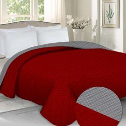 Domarex Přehoz na postel Laurine červená/šedá, 220 x 240 cm