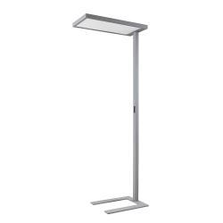 Arcchio LED stojací lampa Somidia, stmívač senzor stříbrná