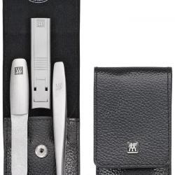 Zwilling Twinox manikúra Asian Competence, černá kůže, 3 ks