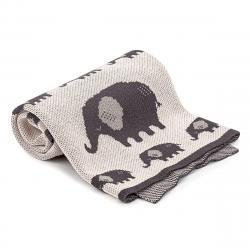 4Home Dětská bavlněná deka Elephant, 70 x 90 cm