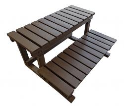 HANSCRAFT Schůdky k vířivce - 2 stupně (dřevoplast/čokoládové) 60cm