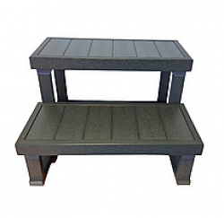 HANSCRAFT Schůdky k vířivce - 2 stupně (dřevoplast/šedé)