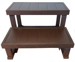 HANSCRAFT Schůdky k vířivce - 2 stupně (dřevoplast/čokoládové) 63 cm