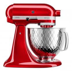 Kuchyňský robot KitchenAid Artisan KSM 156, tepaná mísa, červená metalíza / Candy Apple, 5KSM156QPECA