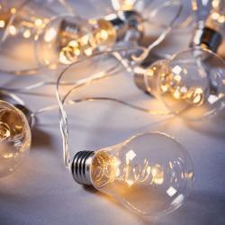 BULB LIGHTS Světelný řetěz s LED žárovkami 10 světel