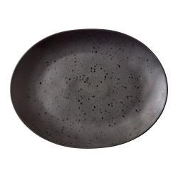 Černý kameninový servírovací talíř Bitz Mensa,30x22,5 cm