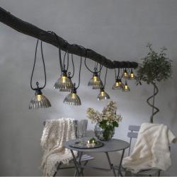 Venkovní světelný LED řetěz Star Trading Circus Shade, 12 světýlek