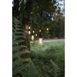 Černý venkovní světelný LED řetěz Star Trading String, 10 světýlek