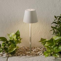 Ailati LED zapichovací svítidlo Poldina, baterie, bílá