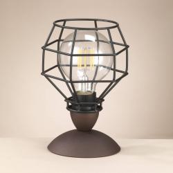EULUNA Stolní lampa Spider v černé s klecovým stínidlem