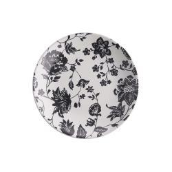 BLOSSOM Snídaňový talíř 21,5 cm - černá