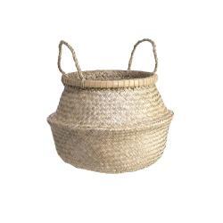 BALI Koš z mořské řasy s bambusovou obručí vel.M