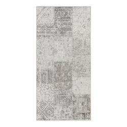 Šedo-krémový běhoun běhoun Elle Decoration Pleasure Denain, 80 x 200 cm