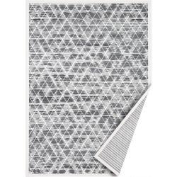 Šedý oboustranný koberec Narma Kuma, 80 x 250 cm
