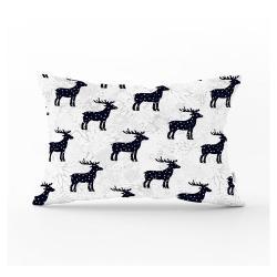 Vánoční povlak na polštář Minimalist Cushion Covers Reindeer and Stars,35x55cm