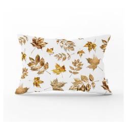 Dekorativní povlak na polštář Minimalist Cushion Covers Gold Leaves,35x55cm