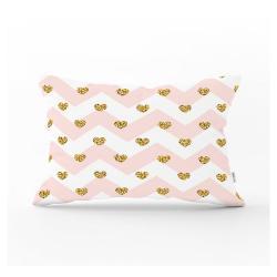 Dekorativní povlak na polštář Minimalist Cushion Covers Gold Hearts,35x55cm