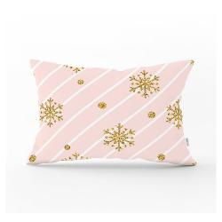 Vánoční povlak na polštář Minimalist Cushion Covers Golden Snowflake,35x55cm