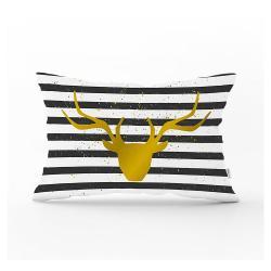 Dekorativní povlak na polštář Minimalist Cushion Covers Striped Reindeer,35x55cm