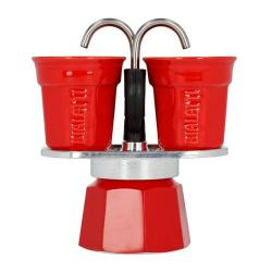 Bialetti Kávovar na 2 šálky, červená