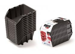PlasticFuture Set úložných boxů 12ks BINLONG SET 190x77x120 černý