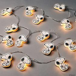 PEANUTS LED Světelný řetěz papírový 20 světel - bílá