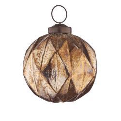 HANG ON Ozdoba vánoční koule káry 8 cm - bronzová