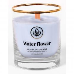 Vonná svíčka ve skle Water flower 500 g, 9,5 cm
