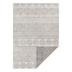 Šedo-bílý venkovní koberec Ragami Circle, 120 x 170