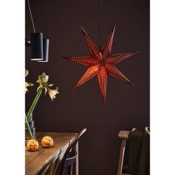 Červená vánoční závěsná světelná dekorace Markslöjd Embla, výška75cm