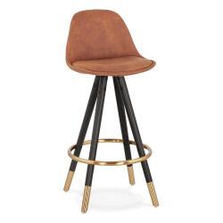 Hnědá barová židle KokoonBruce Mini, výška sedáku 65cm