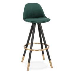 Tmavě zelená barová židle KokoonCarry, výška sedáku 75cm