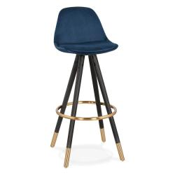 Tmavě modrá barová židle KokoonCarry, výška sedáku 75cm