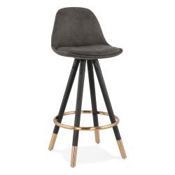 Šedá barová židle KokoonBruceMini, výška sedáku 65cm