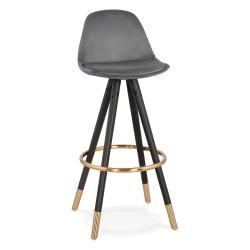 Tmavě šedá barová židle KokoonCarry, výška sedáku 75cm