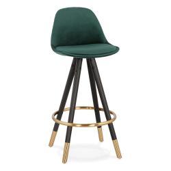 Tmavě zelená barová židle KokoonCarry Mini, výška sedáku 65cm
