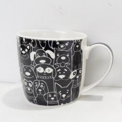 Altom Porcelánový hrnek Black dog, 250 ml