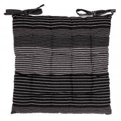 Trade Concept Sedák Proužek šedá prošívaný, 40 x 40 cm