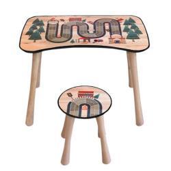 Dětský stolek se stoličkou Dráha, 65 x 41 x 47 cm