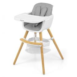 Milly Mally Jídelní židlička 2v1 Espoo šedá, 83,5 x 52 x 52 cm