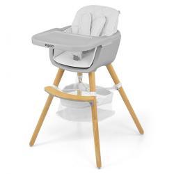Milly Mally Jídelní židlička 2v1 Espoo bílá, 83,5 x 52 x 52 cm