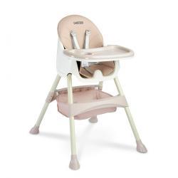 Caretero Jídelní židlička 2v1 Bill pink, 63 x 75 x 92 cm