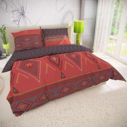 Kvalitex Bavlněné povlečení Zahira červená, 140 x 200 cm, 70 x 90 cm