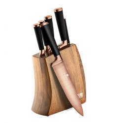 Berlinger HausSada nožů v dřevěném bloku 7 ks Black Rose Collection