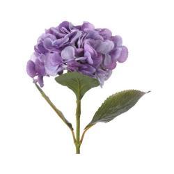 Umělá květina Hortenzie fialová, 65 cm