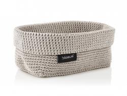 Pletený košík Tela Blomus velký pískový