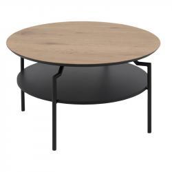 Hector Kulatý konferenční stolek Goldie I dub/černý