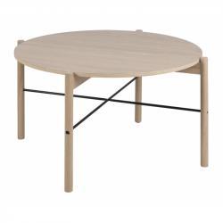 Hector Kulatý konferenční stolek Leka  dub
