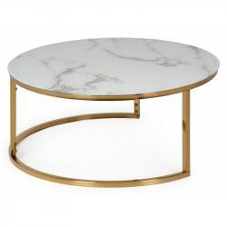 Hector Kulatý konferenční stolek Lula bílý