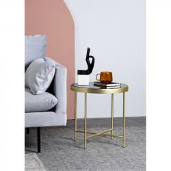 Hector Kulatý konferenční stolek Victoria černý/zlatý